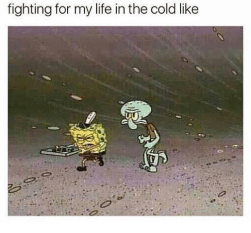 Life, SpongeBob, and Cold: fighting for my life in the cold like