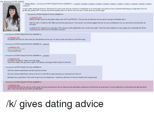 Anonymous dating advice