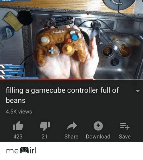 Irl, Gamecube, and Download: filling a gamecube controller full of  beans  4.5K views  423  21  Share Download Save me🎮irl