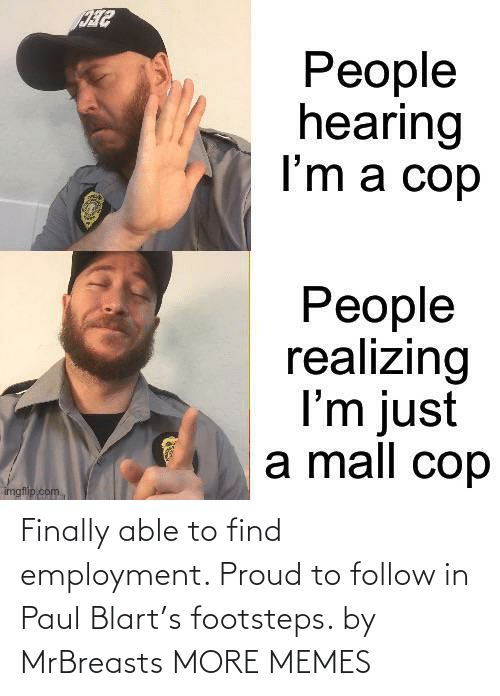 Dank, Memes, and Target: Finally able to find employment. Proud to follow in Paul Blart's footsteps. by MrBreasts MORE MEMES
