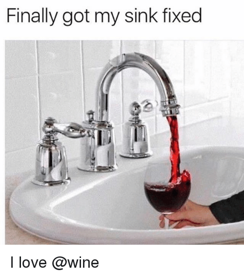 Love Wine And Trendy Finally Got My Sink Fixed I