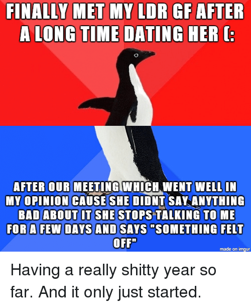 How long after talking before dating