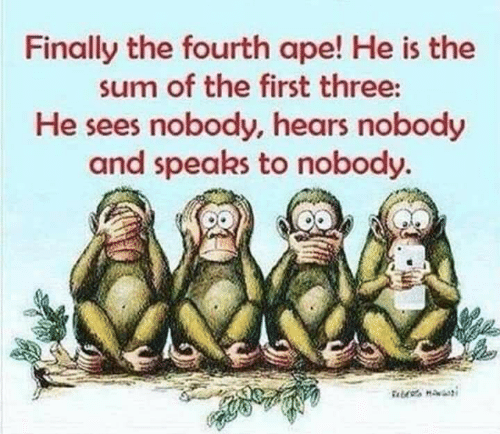 Risultato immagini per finally the fourth ape he is the sum of the first three
