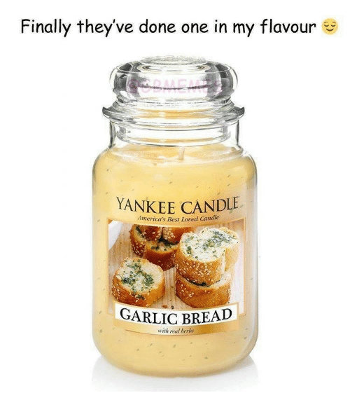 Yankee Candle, Best, and Garlic Bread: Finally they've done one in my flavour  YANKEE CANDLE  America's Best Loved Candle  GARLIC BREAD  with real herbs