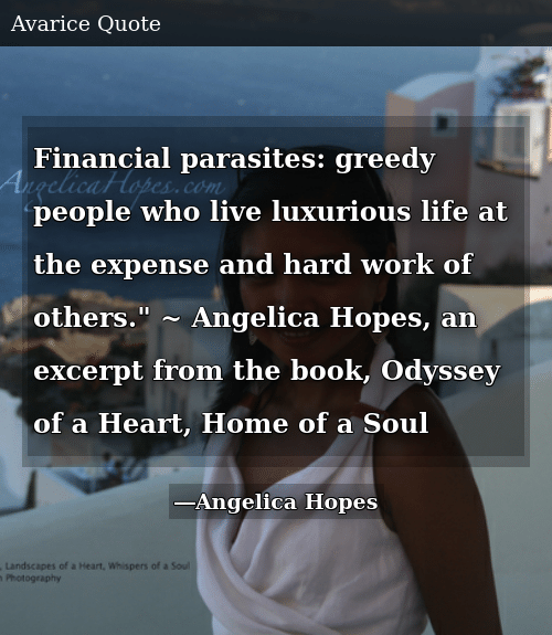 Financial Parasites Greedy People Who Live Luxurious Life at ...