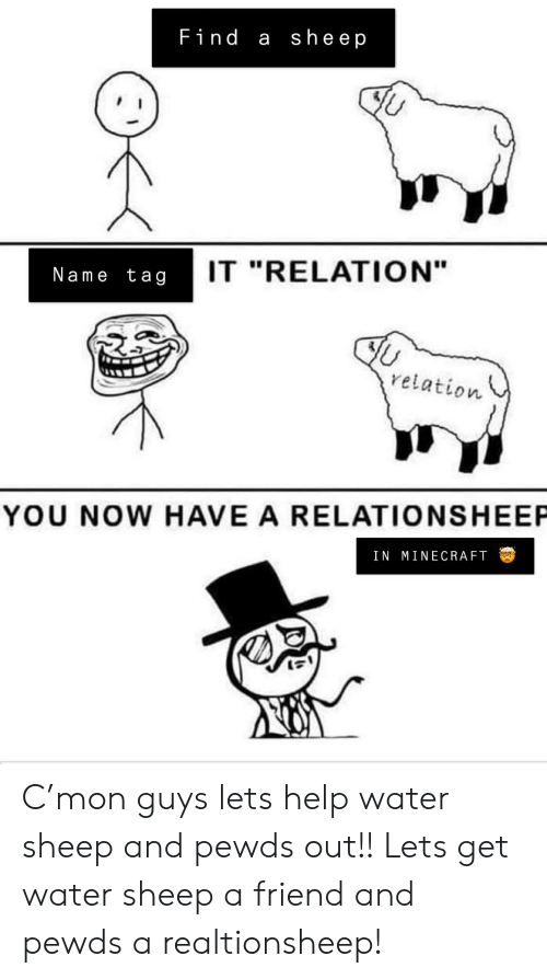 Find a Sheep IT RELATION Name Tag Relation YOU NOW HAVE a