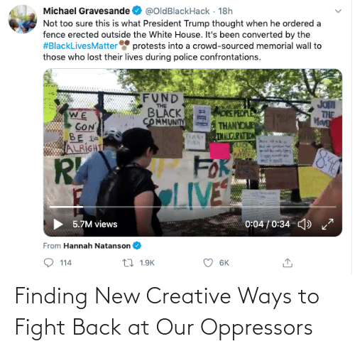 Fight, Back, and New: Finding New Creative Ways to Fight Back at Our Oppressors