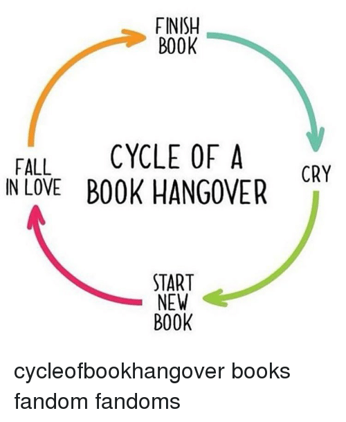 Finish Book Fall Cycle Of A In Love Book Hangover Start New Book Cry