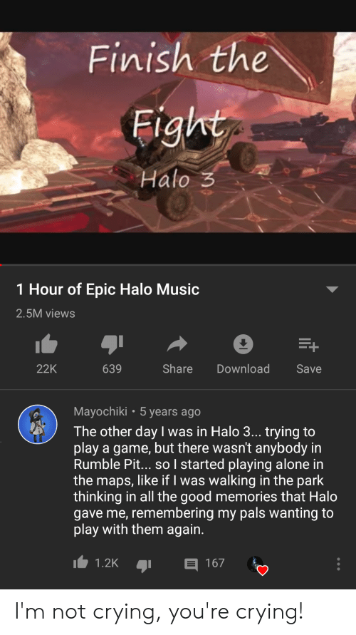 Finish the Fight Halo 3 1 Hour of Epic Halo Music 25M Views Share