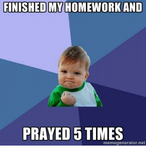 I have finished my homework