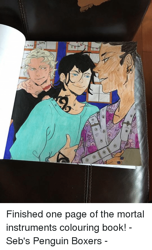 Finished One Page of the Mortal Instruments Colouring Book! - Seb\'s ...