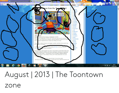 Firefox X fWhat's New Toontowng W the Toontown Zone |I'll