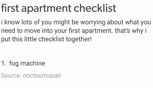 First Apartment Checklist I Know Lots of You Might Be Worrying About ...