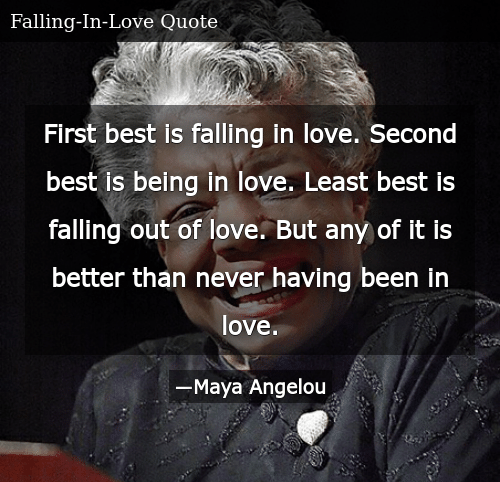 First Best Is Falling in Love Second Best Is Being in Love ...