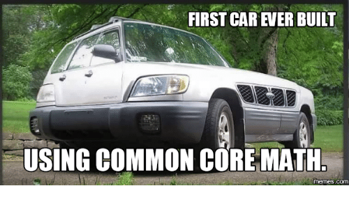 First Car Ever Built Using Common Core Math