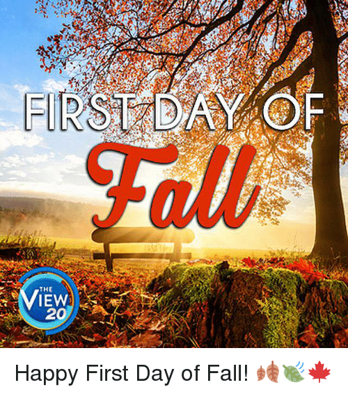 first day f the iew 20 happy first day of 6425941 ✅ 25 best memes about first day of fall first day of fall memes