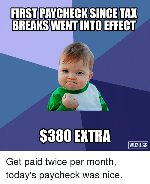 paid twice a month