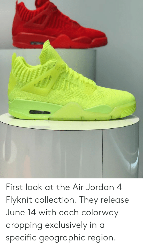 98688a1aa85a First Look at the Air Jordan 4 Flyknit Collection They Release June ...