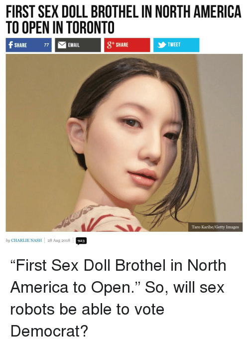 America, Charlie, and Sex: FIRST SEX DOLL BROTHEL IN NORTH AMERICA TO OPEN