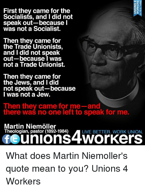 First They Came For The Socialists