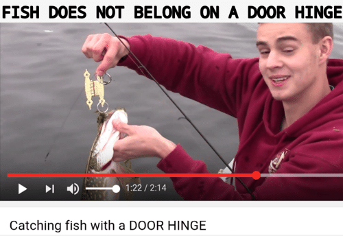 Fish Does Not Belong On A Door Hinge 122 214 Catching Fish With A