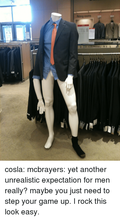 Target, Tumblr, and Blog: fitting rooms cosla:  mcbrayers:  yet another unrealistic expectation for men  really? maybe you just need to step your game up. I rock this look easy.