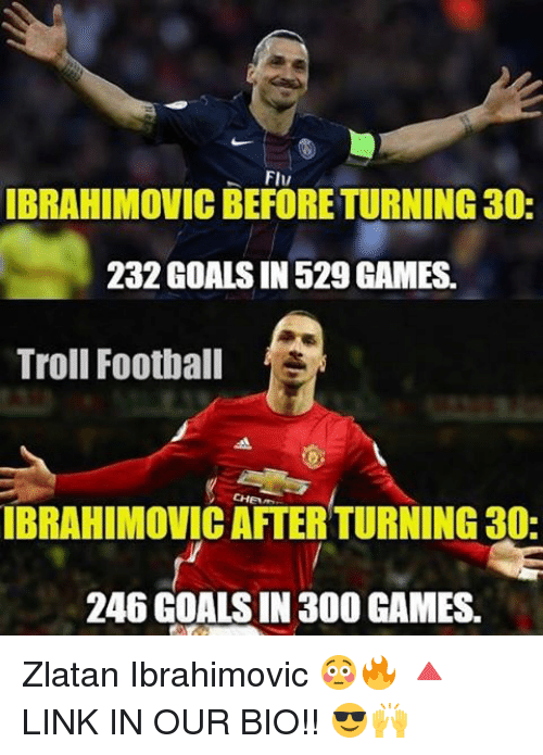 b503529c66f Football, Goals, and Memes: FIv IBRAHIMOVICBEFORETURNING30: 232 GOALS IN  529 GAMES. Zlatan Ibrahimovic ...