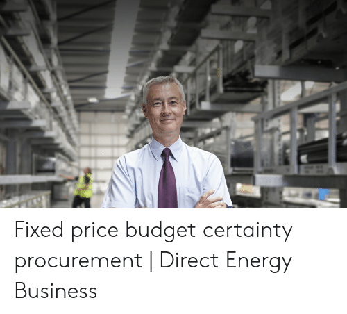 Fixed Price Budget Certainty Procurement   Direct Energy Business