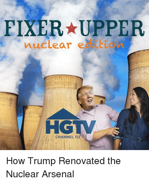 Arsenal, Politics, and Hgtv: FIXER-UPPER  muclear eatti  HGTV  CHANNEL 112
