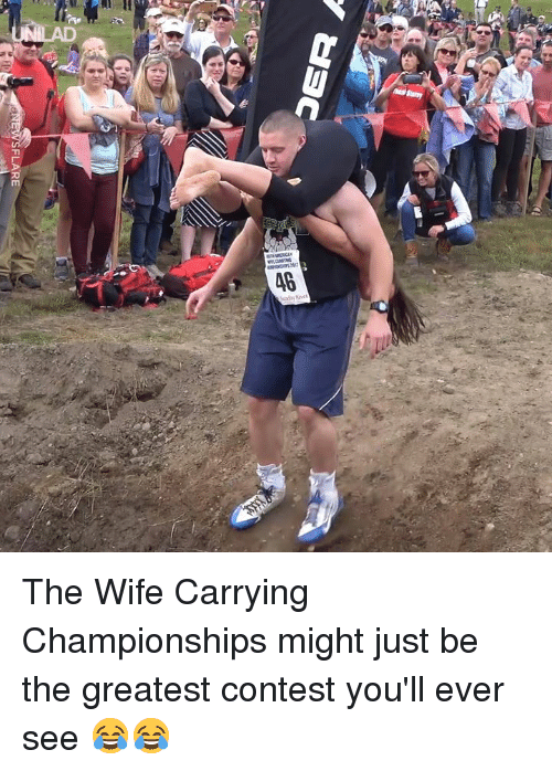 Dank, Wife, and 🤖: FLARE The Wife Carrying Championships might just be the greatest contest you'll ever see 😂😂