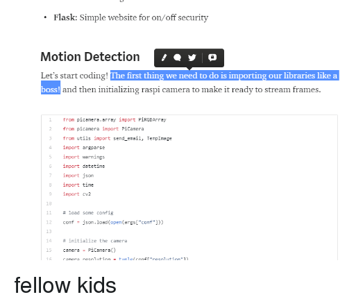 Flask Simple Website for Onoff Security Motion Detection