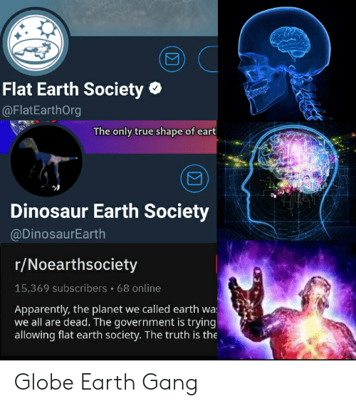 Flat Earth Society the Only True Shape of Eart Dinosaur