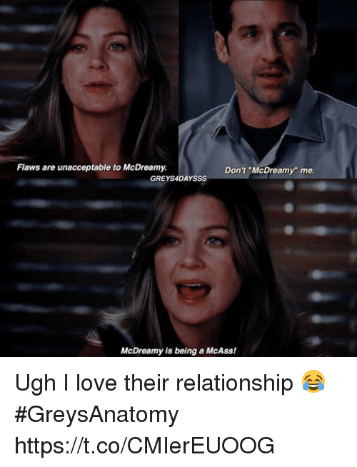"Love, Memes, and 🤖: Flaws are unacceptable to McDreamy.  Don't ""McDreamy"" me  GREYS4DAYSSS  McDreamy is being a McAss! Ugh I love their relationship 😂 #GreysAnatomy https://t.co/CMIerEUOOG"