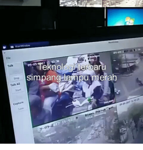 Indonesian (Language), All, and Stop: Fle  017 11  or oTeknologterbaru  simpanglampu merah  Talk  Stop  Talk All  srart  capture  7110 건  Di  09