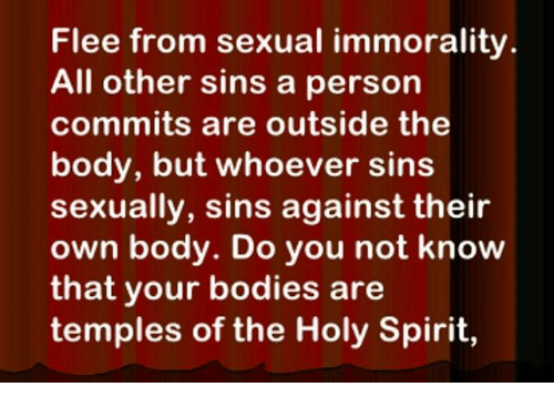 Flee from sexual immorality