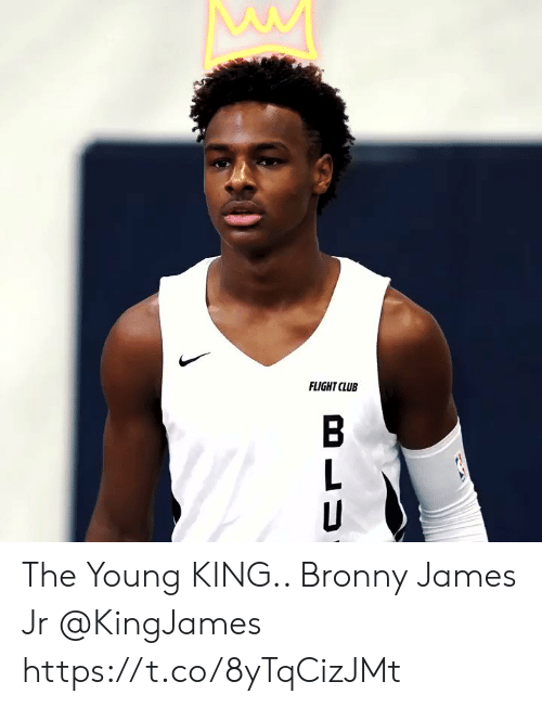 Club, Memes, and Flight: FLIGHT CLUB The Young KING.. Bronny James Jr @KingJames https://t.co/8yTqCizJMt