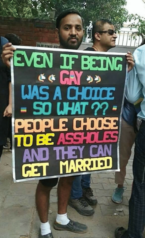 Can, They, and What: FLIMR AGR  GEVEN IF BEING  WAS A CHOICE  SO WHAT ?? -  PEOPLE CHOOSE  TO BE ASSHOLES  AND THEY CAN  GET MARRIED