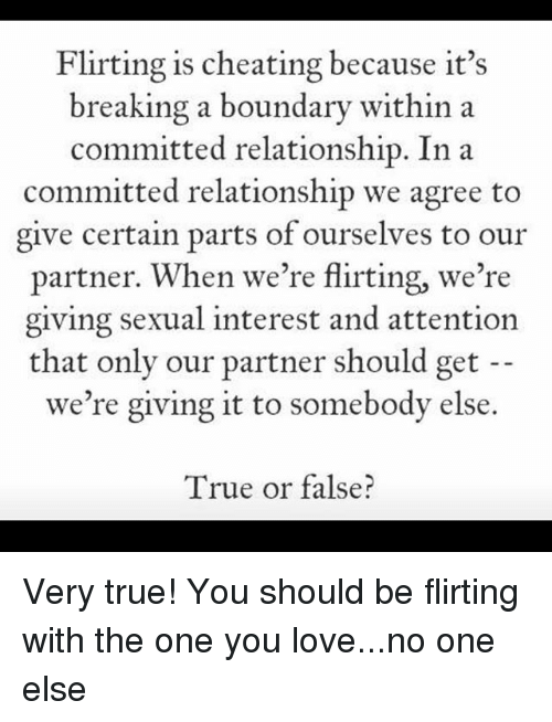 flirting vs cheating committed relationship meaning without text message