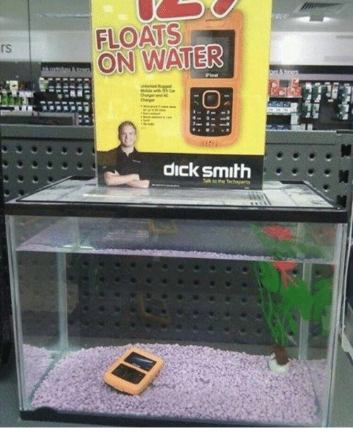 Dank Memes, Smiths, and Waters: FLOATS  WATER  ON dick smith