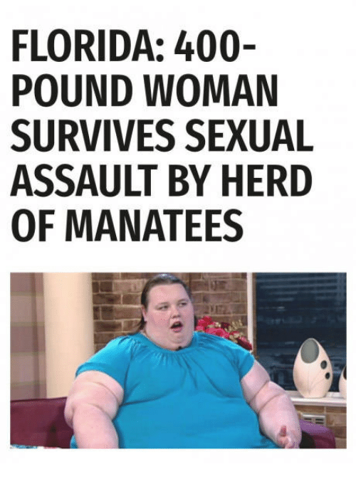 Woman sexually assaulted by manatees