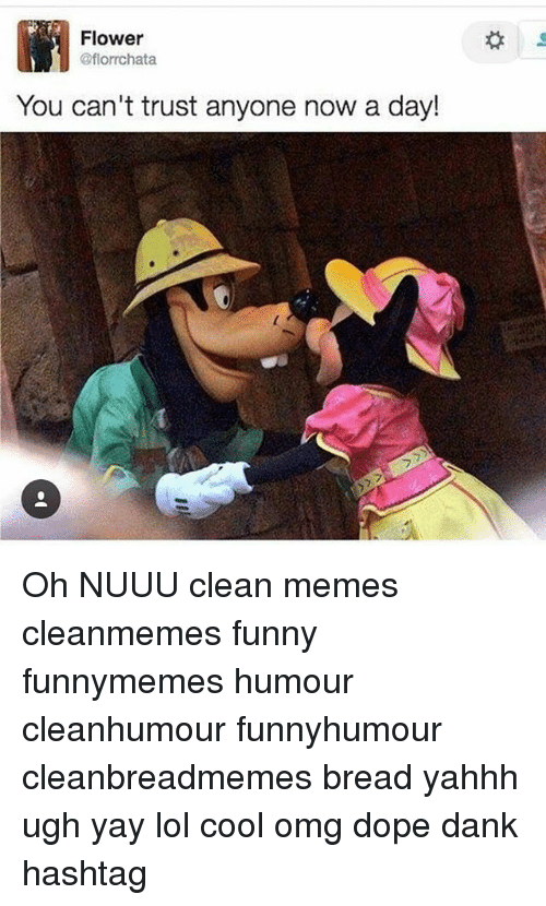 flower you can t trust anyone now a day 7 フ oh nuuu clean memes