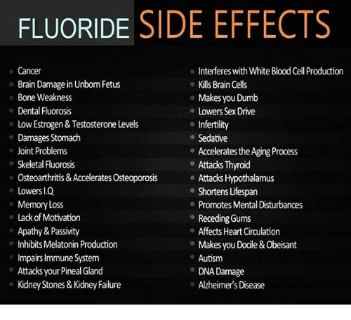 FLUORIDE SIDE EFFECTS Interferes With White Blood Cell