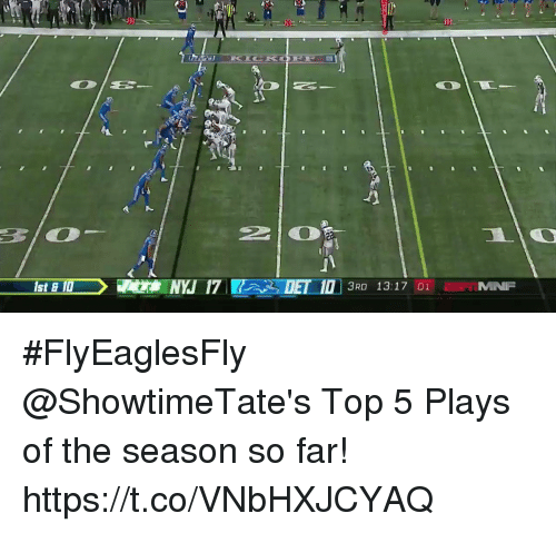 Memes, 🤖, and Top: #FlyEaglesFly  @ShowtimeTate's Top 5 Plays of the season so far! https://t.co/VNbHXJCYAQ