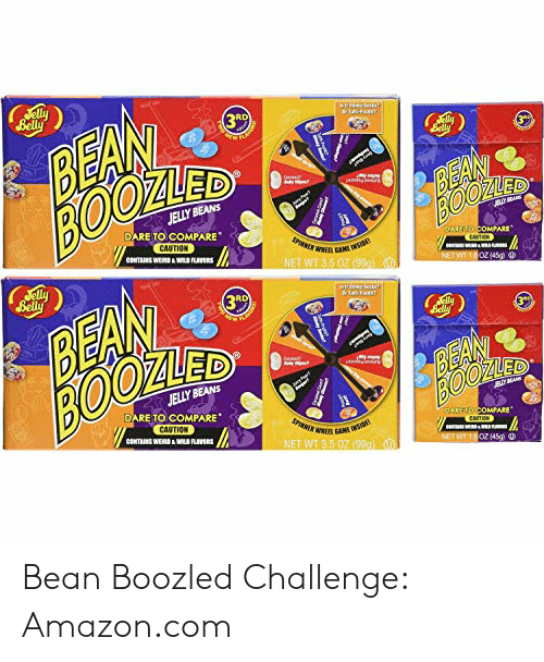 Fme 6elly BEAN BOOZLED 3R 3* BEAN BOOD JELLY BEANS DARE TO COMPARE