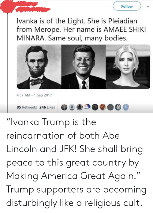 Follow Ivanka Is of the Light She Is Pleiadian From Merope Her Name