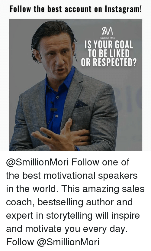 Follow the Best Account on Instagram! Smillion Mori IS YOUR GOAL TO
