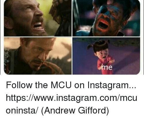 Instagram, Memes, and 🤖: Follow the MCU on Instagram... https://www.instagram.com/mcuoninsta/  (Andrew Gifford)