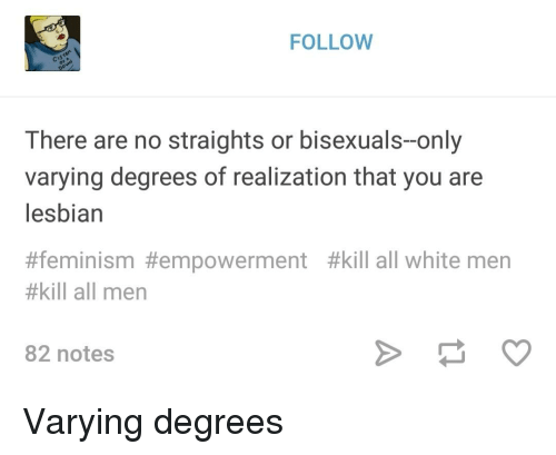 FOLLOW There Are No Straights or Bisexuals-Only Varying
