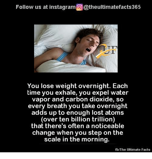 How you lose weight overnight