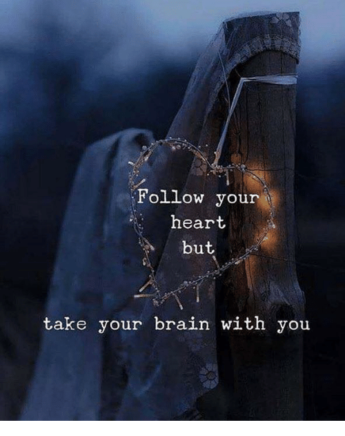 Brain, Heart, and You: Follow your  heart  but  take your brain with you